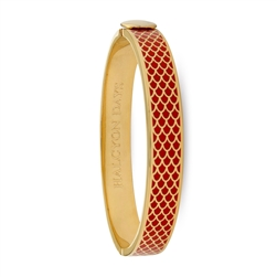Salamander Red & Gold Hinged Bangle - Halcyon Days