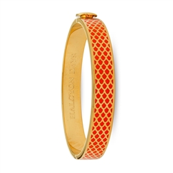 Salamander Orange & Gold Hinged Bangle - Halcyon Days