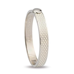 Salamander Cream & Palladium Hinged Bangle- Halcyon Days