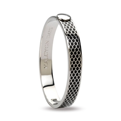 Salamander Black & Palladium Bangle- Halcyon Days