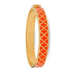 Agama Orange & Gold Hinged Bangle by Halcyon Days