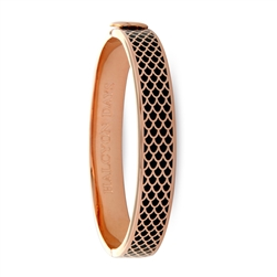 Salamander Black & Rose Gold Bangle - Halcyon Days