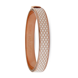 Salamander Cream & Rose Gold Bangle - Halcyon Days