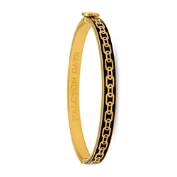 Skinny Chain Black and Gold Bangle by Halcyon Days