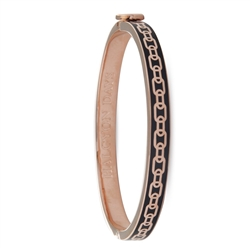 Skinny Chain Black and Rose Gold Bangle by Halcyon Days