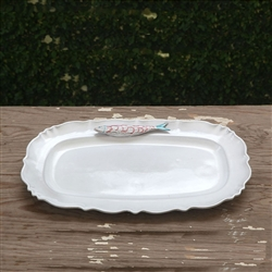 Ceramic Bahia Oval Platter by Beatriz Ball