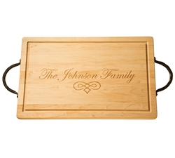 "24"" Personalized Rectangle Wood Cutting Board by Maple Leaf at Home"