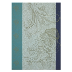 Fonds Marins Meduse Tea Towel (Pair) by Le Jacquard Francais