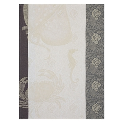 Fonds Marins Crabe Tea Towel (Pair) by Le Jacquard Francais