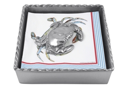 Crab Twist Napkin Box by Mariposa