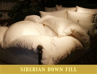 Siberian Down Winter-Light Diagon White Comforter by Down to Basics