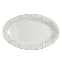 Berry and Thread White Grande Oval Platter by Juliska