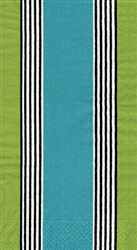 Riviera Stripe Blue/Green Guest Towels by Caspari