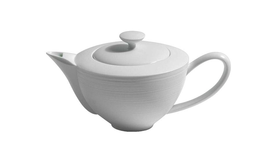 Coquet - Hemisphere White Fully Porcelain Large Teapot