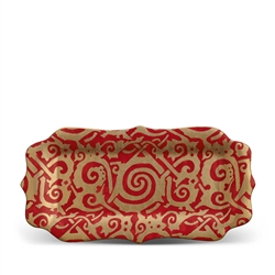 Fortuny Maori Red Rectangular Platter by L'Objet
