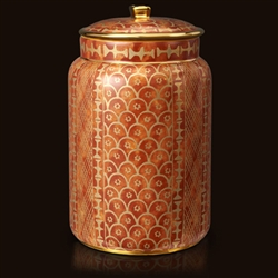 Fortuny Ashanti Orange Canister (Large) by L'Objet