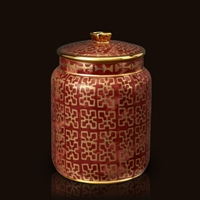 Fortuny Ashanti Red Canister (Small) by L'Objet