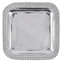 Triple Pearls Square Platter by Mariposa