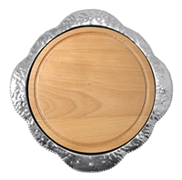 Sueno Round Platter with Wood Insert by Mariposa