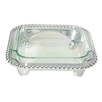 Pearled Squared Casserole Caddy with Pyrex by Mariposa