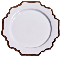 Antique White Dinner Plate by Anna Weatherley