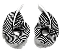 Mallard Feather Earrings Silver by Grainger McKoy