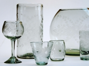 Rose Ann Hall Designs Condessa Stemless Wine Glass