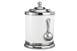 Convivio Caffe Canister with Scoop by Match Pewter