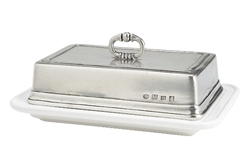 Convivio Double Butter Dish by Match Pewter