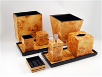 Mappa Burl Waste Basket by Pacific Connections