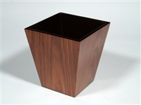 Waste Basket Rosewood by Pacific Connections