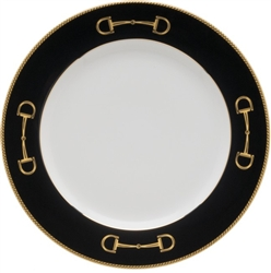 Cheval Black Dinner Plate by Julie Wear