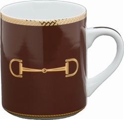 Cheval Chestnut Brown Mug by Julie Wear