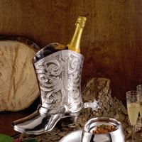Western Cowboy Boot Wine Bucket - Beatriz Ball