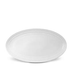 Perlee White Oval Platter (Large) by L'Objet