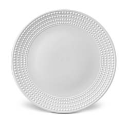 Perlee White Round Platter by L'Objet
