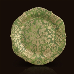 Alberelli - Green Fortuny Round Platter by L'Objet