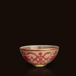 Farnese Red Fortuny Small Bowl by L'Objet