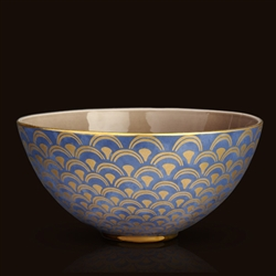 Papiro Blue - Fortuny Large Bowl by L'Objet
