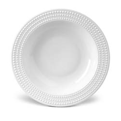 Perlee White Rimmed Serving Bowl by L'Objet