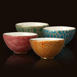 Fortuny Cereal Bowls - Assortment (Set of 4) by L'Objet
