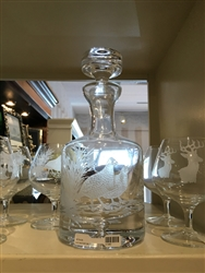 Bob White Quail Decanter (36 oz)  - Evergreen Crystal