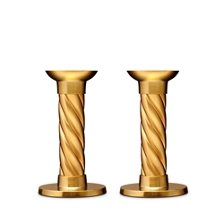 Gold Carrousel Candlesticks - Small (Set of 2) by L'Objet