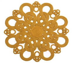 Daisy Placemat (Metallic Gold) byJulian Mejia Design