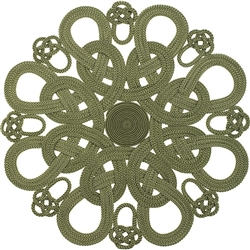 Daisy Placemat (Green) byJulian Mejia Design