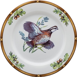 Bob White Quail-in-Flight Salad Plate by Julie Wear
