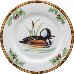 Hooded Merganser Bread and Butter Plate by Julie Wear