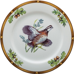 Bob White Quail-in-Flight Luncheon Plate by Julie Wear