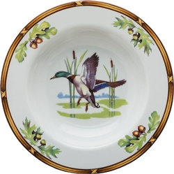 Mallard Rim Soup Bowl by Julie Wear