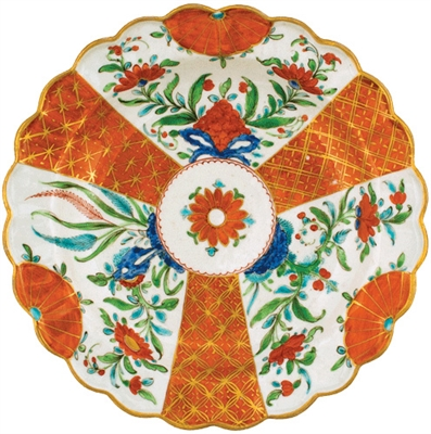 Caspari Orange Floral Plate Die Cut Placemat